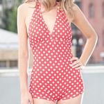 One Piece Swimsuits | Kara Retro Halter