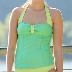 Retro Tankini Swimwear | Bridgette | Limeaide